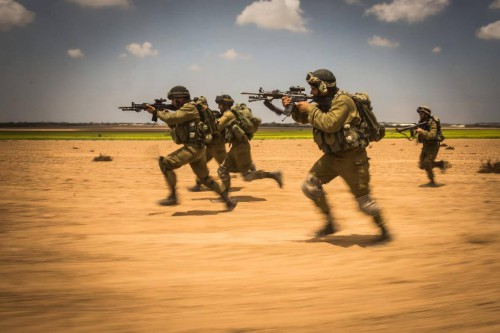 Israeli troops during an exercise in August 2014. IDF photo