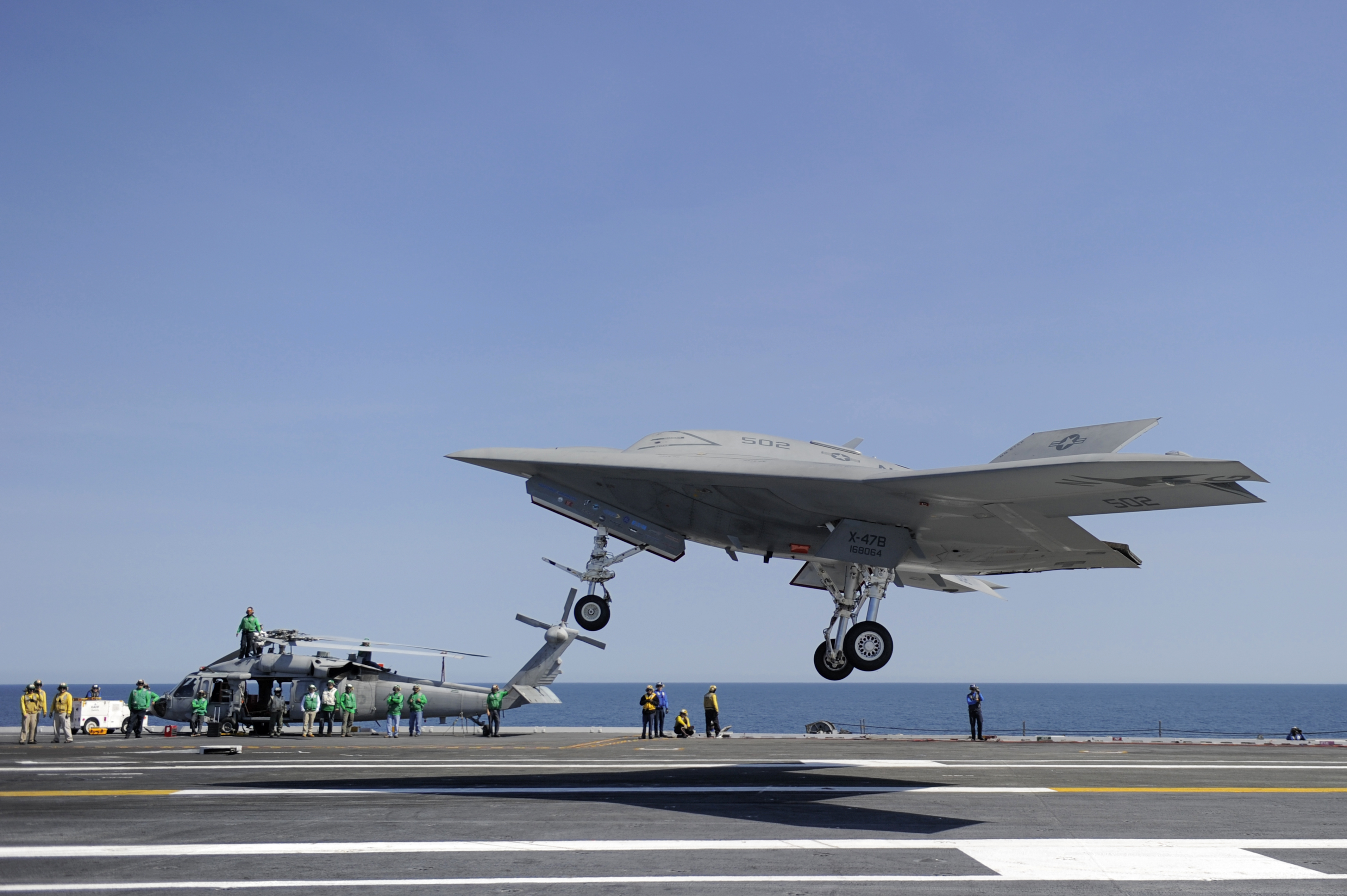 X-47B touch-and-go. <em>Photo: Navy</em>
