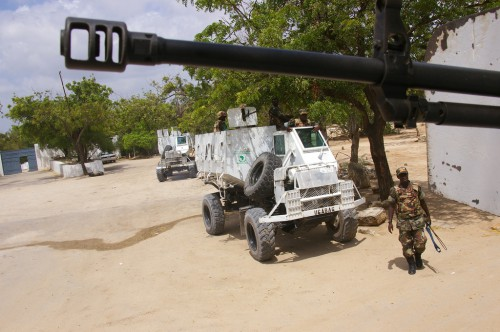 Peacekeepers in Mogadishu. David Axe photo.
