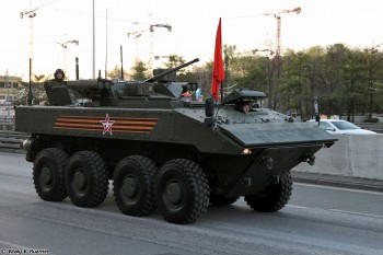 The new Bumerang Armored Personnel Carrier. (Photo: Vitaly V. Kuzmin).