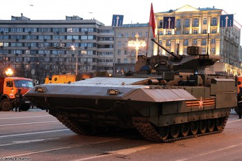 An Armata T-15 Heavy Infantry Fighting Vehicle at a rehearsal before the 2015 Victory Parade. (Photo: Vitaly V. Kuzmin).