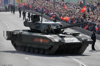 An Armata T-14 Main Battle Tank at the May 9, 2015 Victory Parade. (Photo: Vitaly V. Kuzmin)