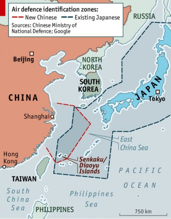 Air Defence Identifaction Zones (Quelle: The Economist)