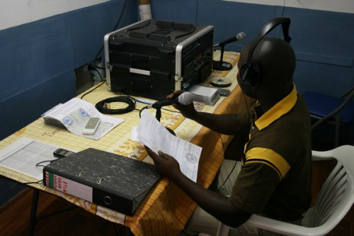 DDRRR radio at MONUSCO compound, Sept. 26, 2010