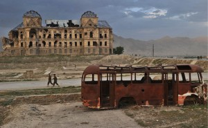 The destroyed Darul Aman palace in Kabul on May 7, 2011. The palace was built in the 1920s (Photo: Massoud Hossaini, AFP, Getty Images).