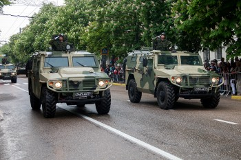 Russian reconnaissance vehicles in Crimea in May 2014. Russian Ministry of Defense photo.