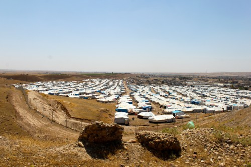Kawergosk Syrian refugee camp near Erbil, Iraqi Kurdistan, is home to nearly 14,000 people, many of whom are Syrian Kurds from northeastern Syria (Photo: Sophia Jones).