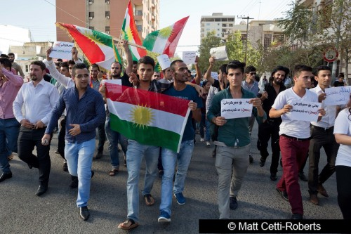 Kurdish activists during summer protests
