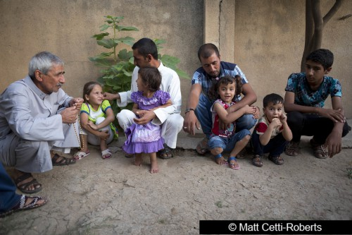 Five arab refugee families from Mosul live with a Kurdish friend in Shekhan