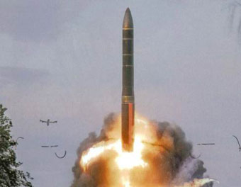 Test-launch of the RS-24 Yars ICBM. Source: Wikipedia