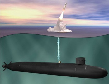 Illustration of the US Navy's new SSBN.