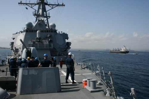 USS Donald Cook departs Djibouti, Sept. 24, 2009.