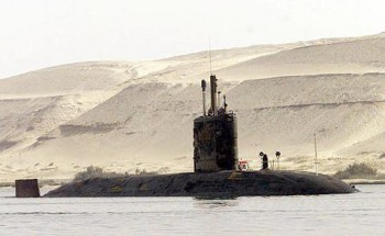 Royal Navy SSN in the Suez Canal in 2001 (Photo: The Hindu).