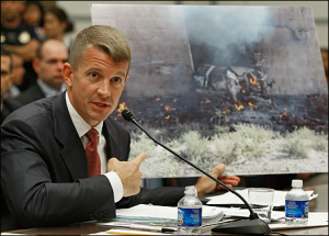 Ex-Blackwater head Erik Prince testifying before Congress.