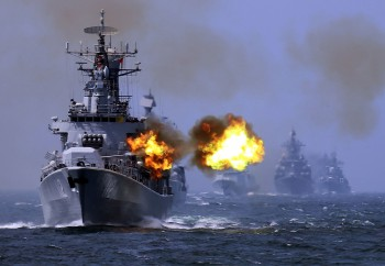 China's Harbin guided missile destroyer takes part in the weeklong China-Russia 'Joint Sea-2014' naval exercise in the East China Sea in May.