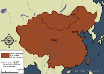 China under the  Qing Dinasty (1644 – 1911) and as Republic of China until 1949.