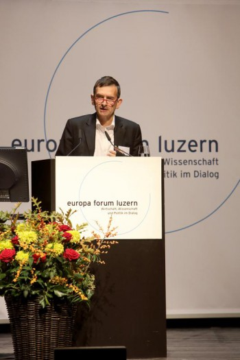 Volker Perthes am 23. internationalen Europa Forum Luzern (Foto: Bruno Näpfli, Akzent Media GmbH)